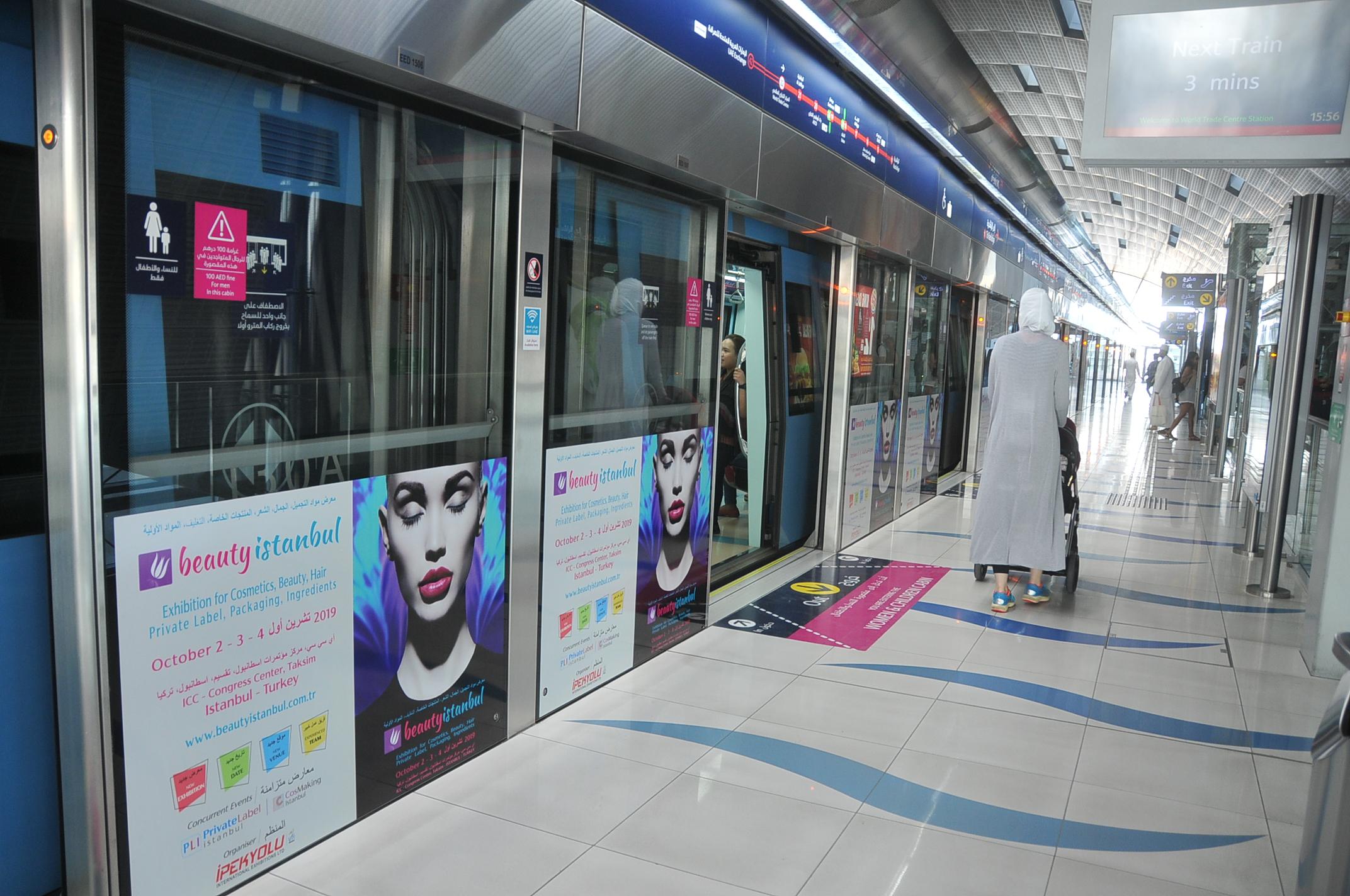 Dubai Metro Advertisement Dubai-United Arab Emirates, May 2018-5