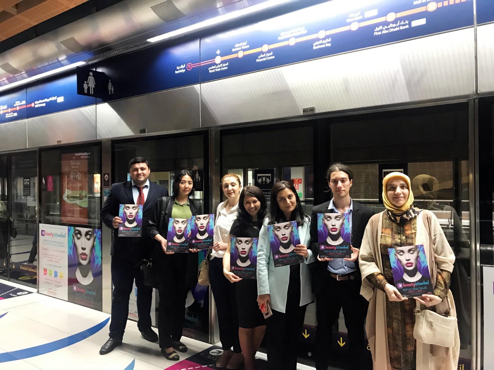 Dubai Metro Advertisement Dubai-United Arab Emirates, May 2018